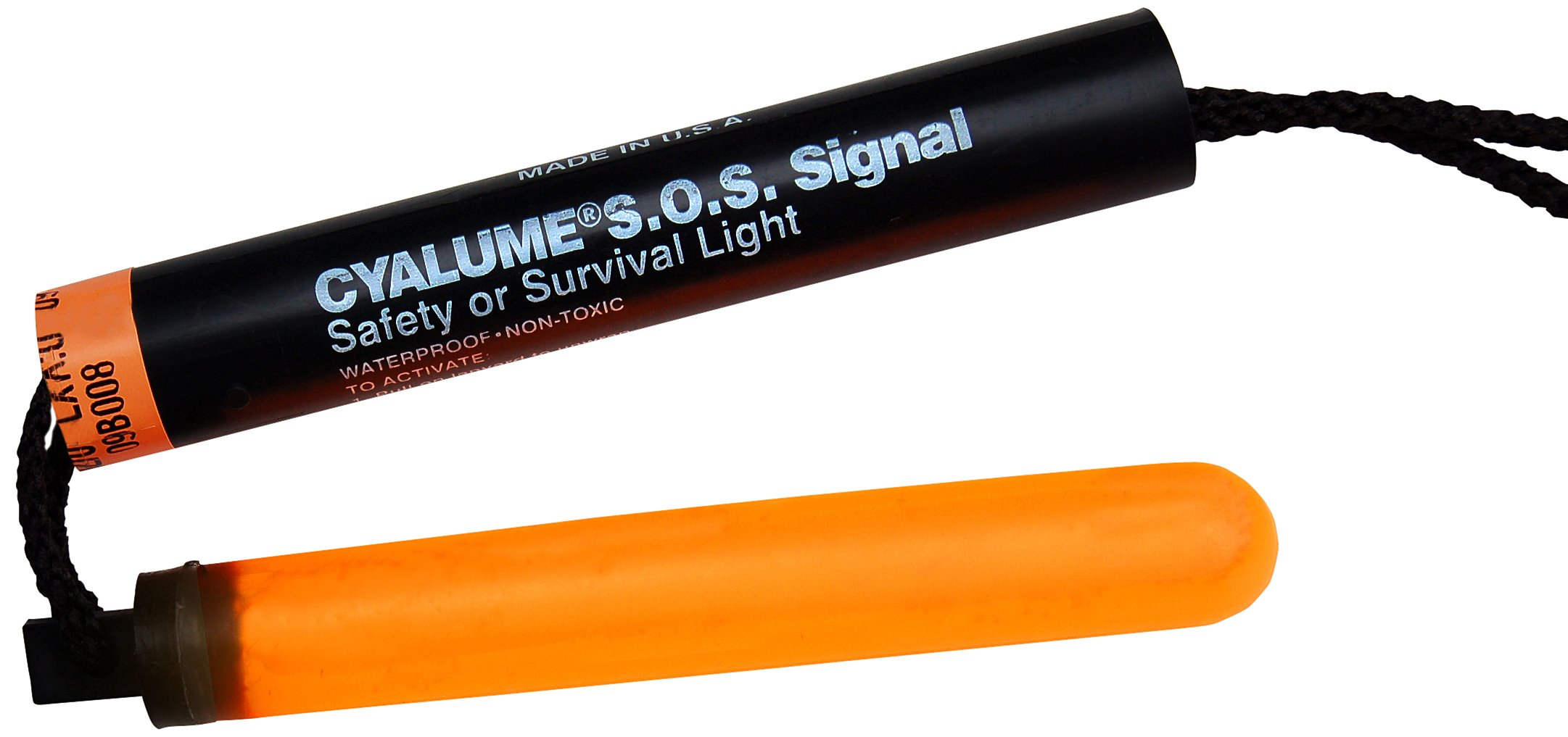 Cyalume ChemLight Military Grade SOS Signal Light Chemical Light Sticks, Orange, High Intensity, 5-1/4'' Long, 5 Minute Duration (Case of 50)