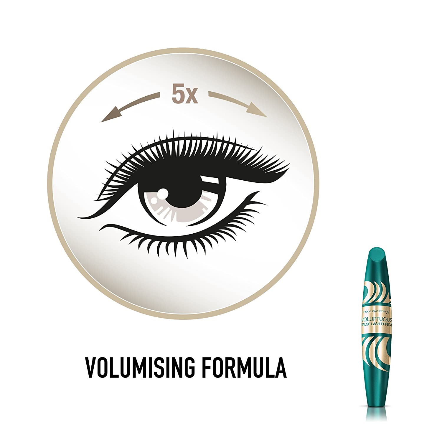 42777111bf4 Amazon.com : Max Factor False Lash Effect Voluptuous Mascara, Black/Brown  13 ml by Max Factor : Beauty