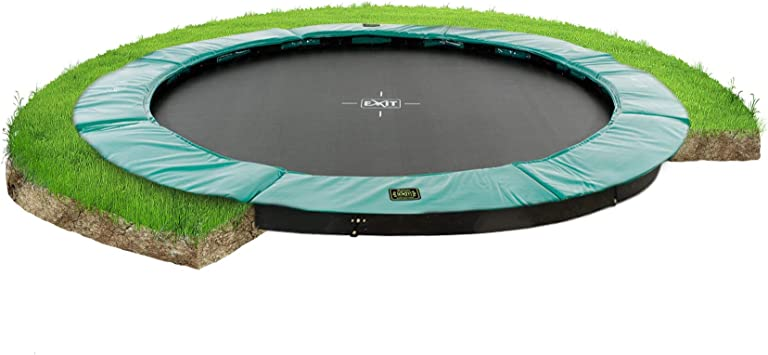 EXIT Supreme ground trampoline ø366cm - green Exterior Alrededor ...