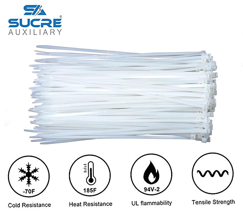 Corbata con cremallera de nailon blanco con cierre automático ...