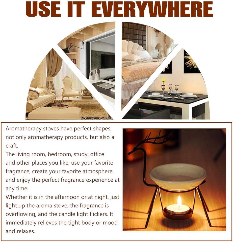Rosa dise/ño de casa Simple. Vela de Aceite de aromaterapia Vela Aroma Decoraciones para Interiores,Iluminaci/ón de Velas HURRISE Quemador de Aceite Esencial L/ámparas de aromaterapia