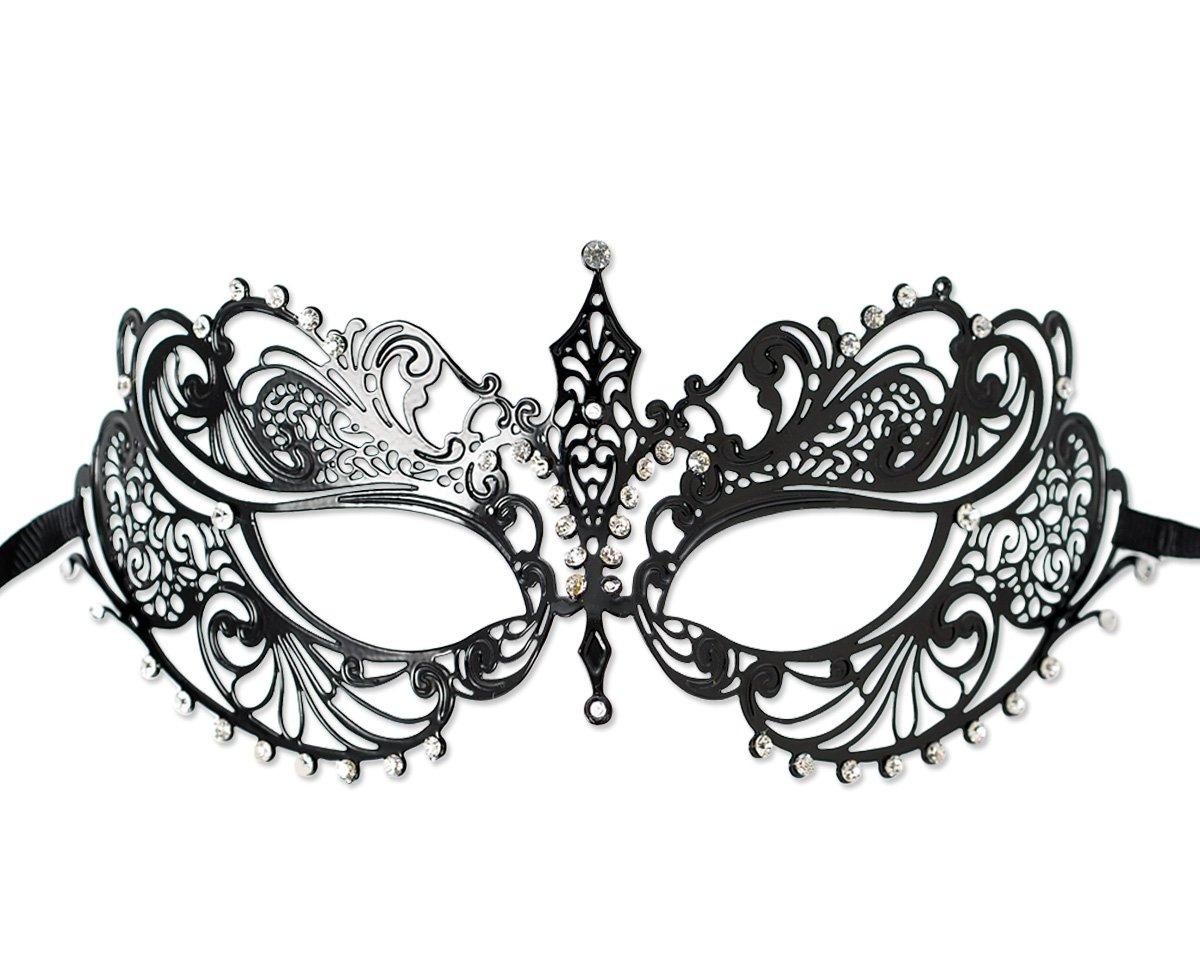 DSstyles Masquerade Mask Venetian Style Luxury Metal Filigree Laser ...