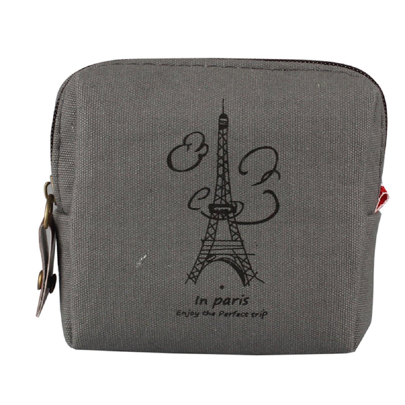 Tonsee(TM) Retro Lady Purse Wallet Card Holders Clutch Handbag (Gray)