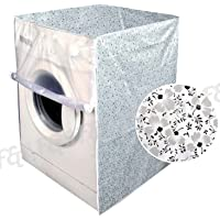 F&A Washing Machine Cover Front Load 6 KG to 7.5 KG Water Proof Dust Proof Small Flowers
