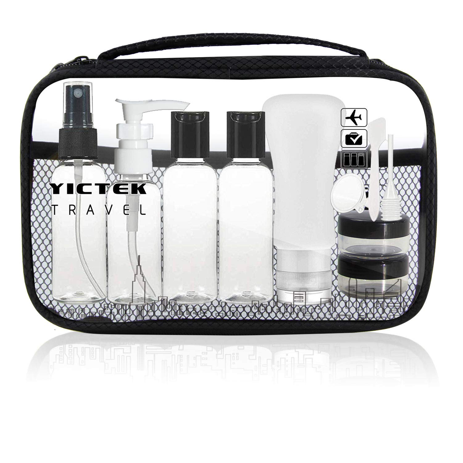 Travel Bottles Containers,Travel Size Toiletries TSA Approved Travel Accessories Tubes Kit with Clear Quart Toiletry Bag for Liquids, Carry-On Luggage Set for Women Men