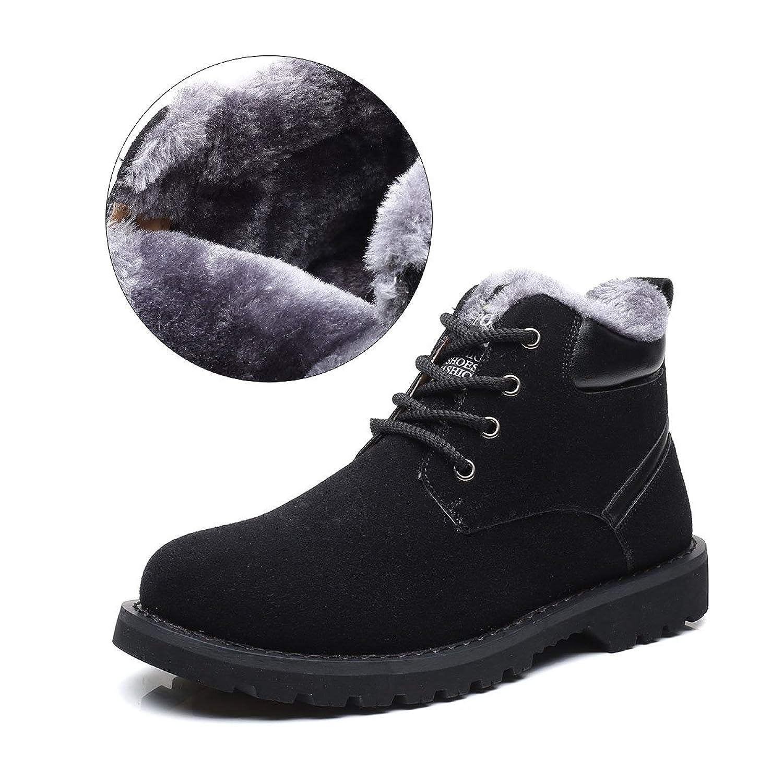 Hombres Zapatos de Nieve Invierno Botines Gracosy Calentar Botas De Nieve Anti