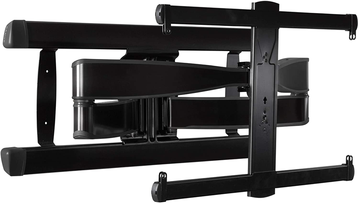 """Sanus Premium Full Motion TV Wall Mount for TVs Up to 90"""" - Brushed Black Finish with FluidMotion Design for Smooth Extension, Tilt,"""