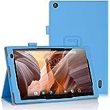 Alldaymall 10.1'' Funda iBetter Alldaymall 10.1'' Estuches Fundas cubierta de cuero Carcasa para Alldaymall 10.1'' 2017 Modelo Nuevo Tablet- Azul