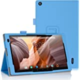 ELTD Alldaymall 10.1 custodia, Book-style Custodia Cover in pelle PU per Alldaymall Tablet 10.1 , Blu