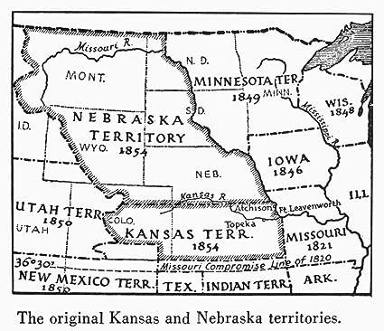 amazon com kansas nebraska map 1854 ndetail of a map of the united