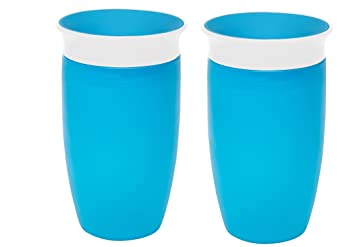 Green//Blue Or Pink//Orange 2 Count 10 Ounce Munchkin Miracle 360 Sippy Cup