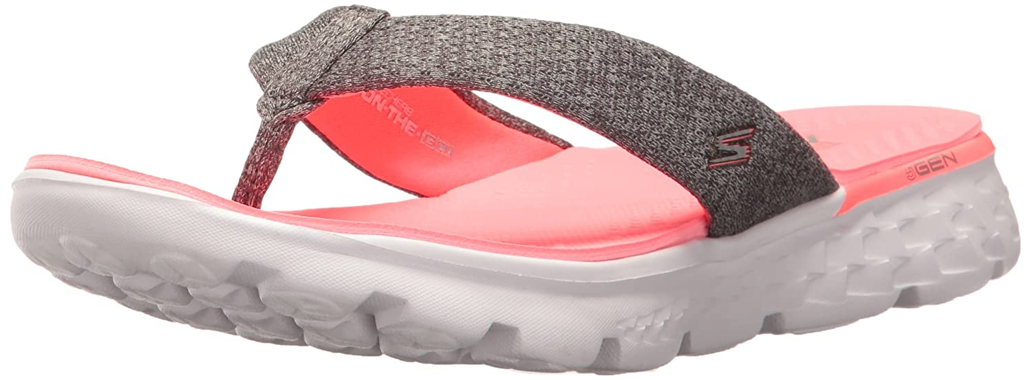 69212ee4a807 Skechers Women s On-The-go 400-Vivacity Flip Flops  Amazon.co.uk  Shoes    Bags