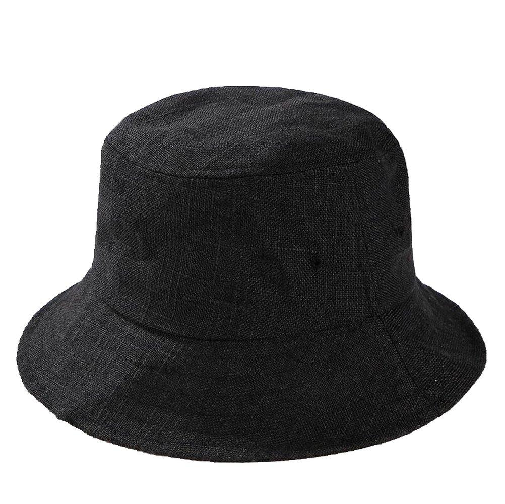 AOBRITON Women's Cotton Linen Sun Hats Summer Beach Travel Vacation Panama Caps