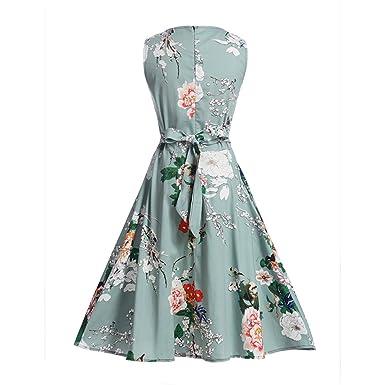 Eloise Isabel Fashion Mulheres Vestido Floral Bonito Da Cópia Da Flor Cinto Arco Vestido de Audrey