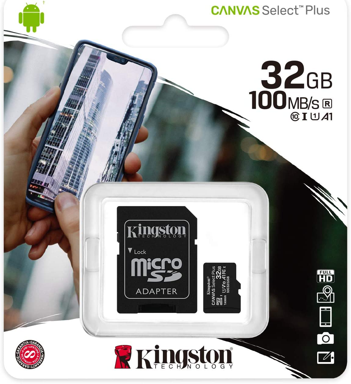 Kingston - Tarjeta de memoria microSD (32 GB, para Samsung Galaxy S7 Edge (SM-G935F))