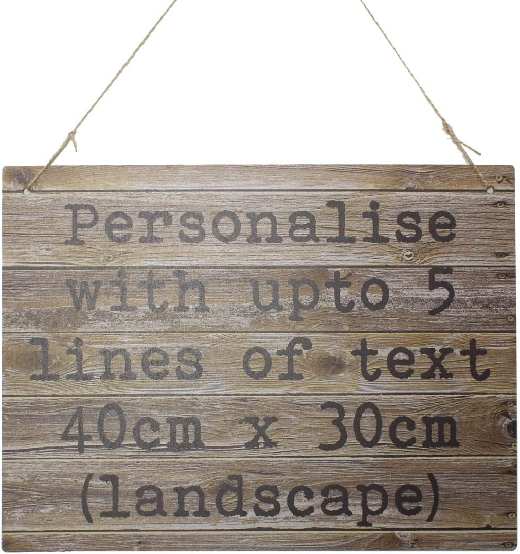 Welcome to our Summer House Wood effect sign A4 metal plaque out-door /& in-door