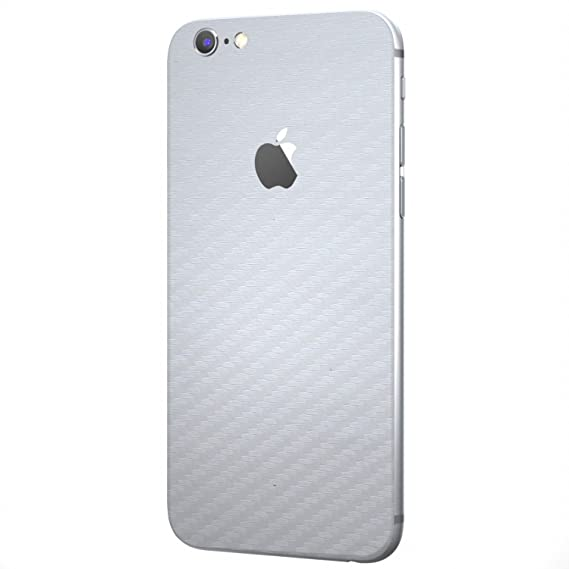 huge selection of 533db a5448 White Carbon Fiber SKINTZ Protective Skin Wrap Compatible with iPhone 6 /  iPhone 6s