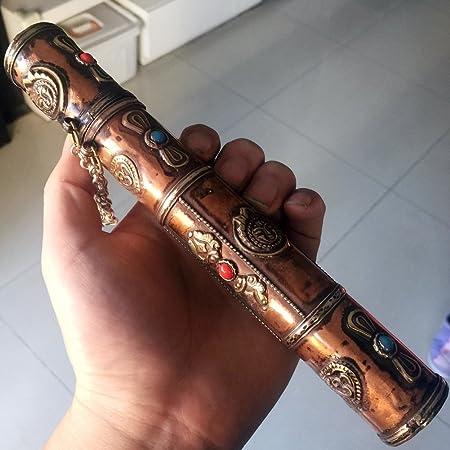 Tibetan Buddhist OM MANI PADME HUM /& VAJRA Mantra Copper Incense Holder