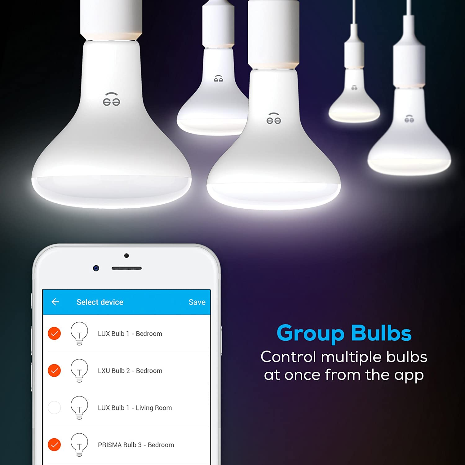 No Hub Required Dimmable BR30 Tunable White Works with Alexa Geeni Smart Wi-Fi LED Light Bulb Google Assistant and Microsoft Cortana