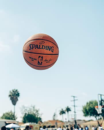 Spalding NBA Indoor/Outdoor Replica Game Ball by Spalding: Amazon ...