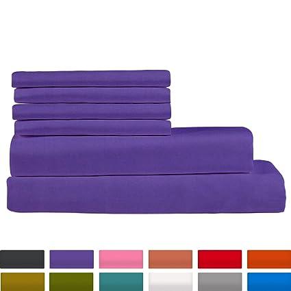 Premium Bamboo Bed Sheets   King Size, Plum Sheet Set   Deep Pocket   Ultra