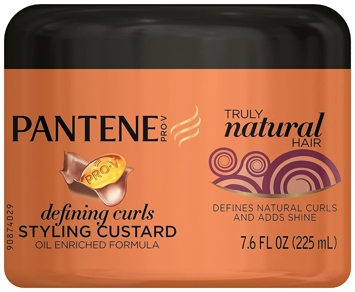 Pantene Pro V Truly Natural Hair Defining Curls Styling Custard 7 6 Fl Oz Packaging May Vary Hair Shampoos Beauty Amazon Com