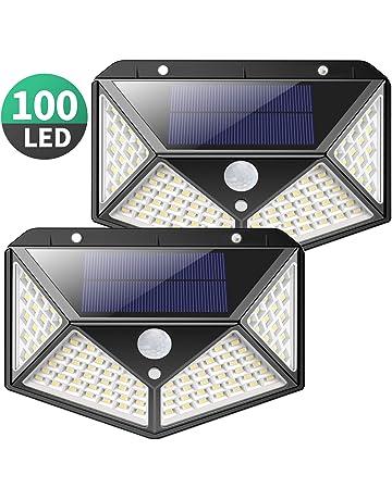 Luz Solar Exterior, Kilponen 100 LED Foco Solar Exterior Gran Ángulo 270° con Sensor
