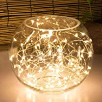 Highill 20LED Fairy Light Battery Operated, LED Lights with Timer Setting Warm White String Lights, 2M Silver Wire…