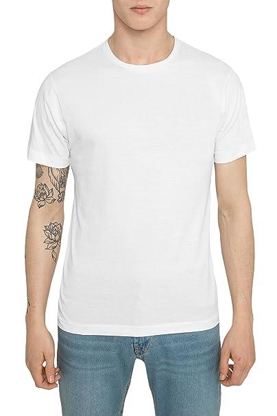 Camisetas Basicas para Hombre, Camiseta Lisa Negra, Blanca Algodón Casual Luxe Deportiva de marca