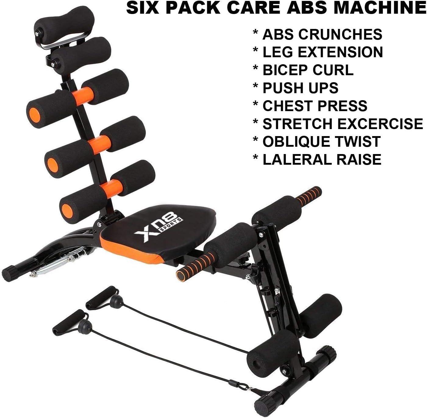Xn8 Sports Abs Rocket Silla Multi 6 Gimnasio Entrenador ejercitador Abdominal Fitness Crunches m/áquina Entrenamiento Banco hogar Gimnasio Ejercicio