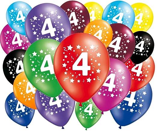 FABSUD – Lote de 20 Globos cumpleaños 4 años