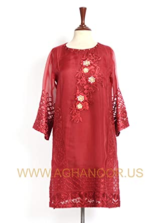 67aaf8fc8a Ethnic Floral Patterned Red Kurti – Red. Roll over image to zoom in. Agha  Noor