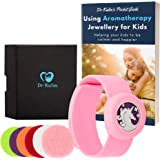 Anti-Anxiety Bracelet for Children Pink Slap Aromatherapy Bracelet for Kids Relief for ADHD, Autism in Girls by Dr Kalm with Refillable Pads Unicorn Jewellery Gifts BONUS eBook