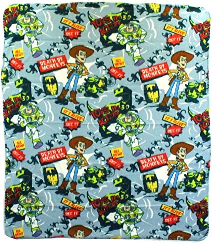 Toy Story Death By Monkeys Fleece Character Blanket 50 x 60-inches