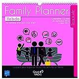 Quo Vadis Family Planner Hebdo Calendrier de bureau Sept 2016 à Août 2017 12 mois