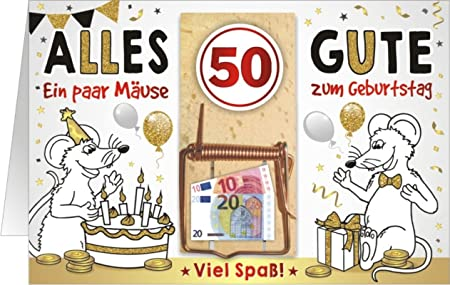 Mousetrap Money Gift Card Birthday Present Greeting