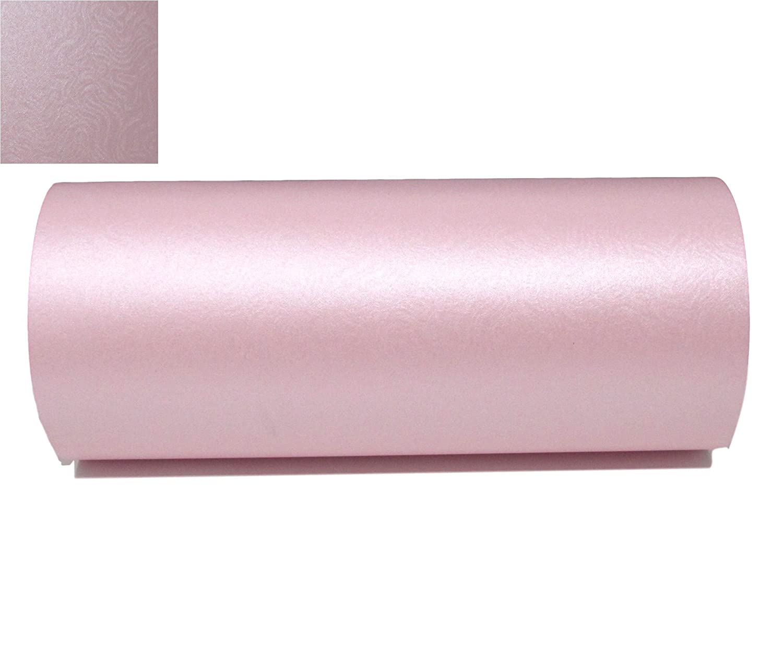 10x A4di petali rosa perlato broccato goffrato design strutturato di qualità 290GSM Syntego