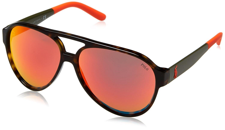 Ralph Lauren POLO 0PH4130 Gafas de sol, Dark Havana, 61 para ...