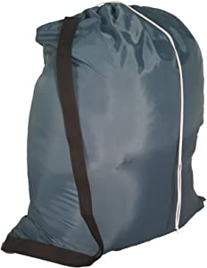Owen Sewn Heavy Duty 40inx50in Nylon Laundry Bag with Strap - Navy Blue