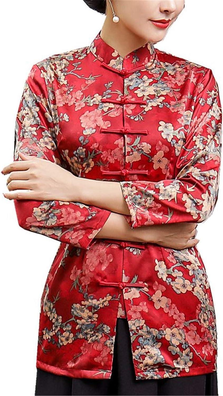 Auspiciousi Camisa Cheongsam con Manga 3/4 y Blusa China Tradicional para Las Mujeres: Amazon.es: Ropa y accesorios