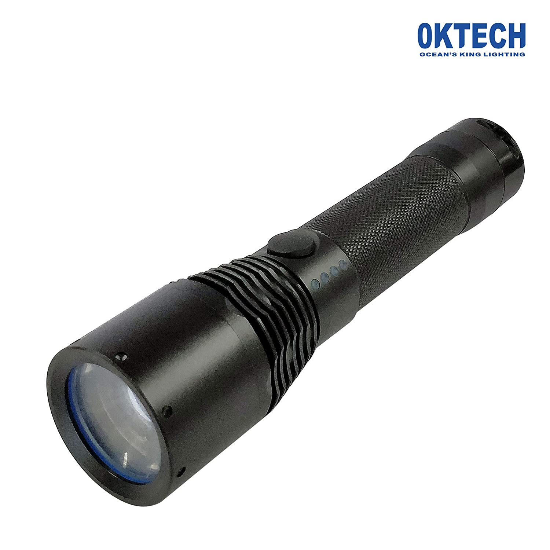 OKTECH JW7632 LED-Taschenlampe, 3,5 W, mit drei Leuchtmodi, starkes und Blitzlicht, 100.000 h, 200 V  240 V, Wechselstrom 50 Hz  60 Hz