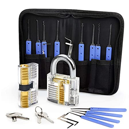 Lock Pick Set Eventronic 17 Piece Lock Picking Tools With 2 Clear