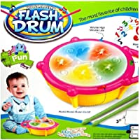 """KIDSZONE The Original Flash Drum """"Baby Drum with Colourful Lights and Music Flash Drum with Flashing Lights"""""""