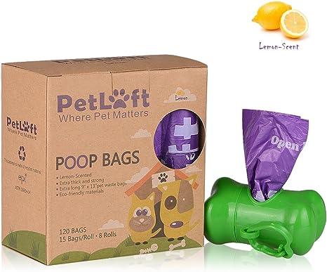 PetLoft Bolsa de residuos para perros, biodegradable, duradera y ...