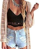 ABC® Women Crochet Tank Camisole Lace Vest Blouse Bralette Bra Crop Top