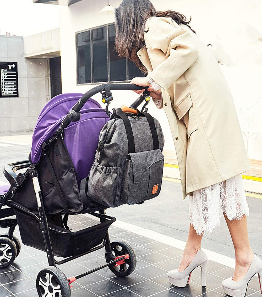 mit Kinderwagen Hacken Babytasche Sosila Wickeltasche Schwarz Befestigung f/ür Kinderwagen inklusive Rucksack Multifunktional wasserabweisend Reisetasche Baby Wickelrucksack mit Isoliertasche