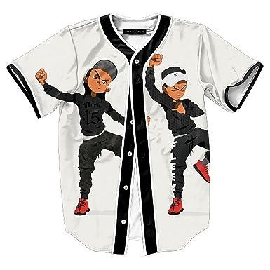 Csqc Boondocks Hit Dem Folks A Clothing Line Shirt Hiphop Baseball T Shirt M