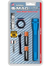 Maglite M2a11c Aa Mini Maglite Flashlight Combo Pack, azul