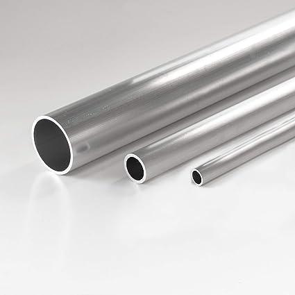 tubo rotondo profilo di alluminio Tubo di alluminio AlMgSi0,5 modello fino a 1,5 m.