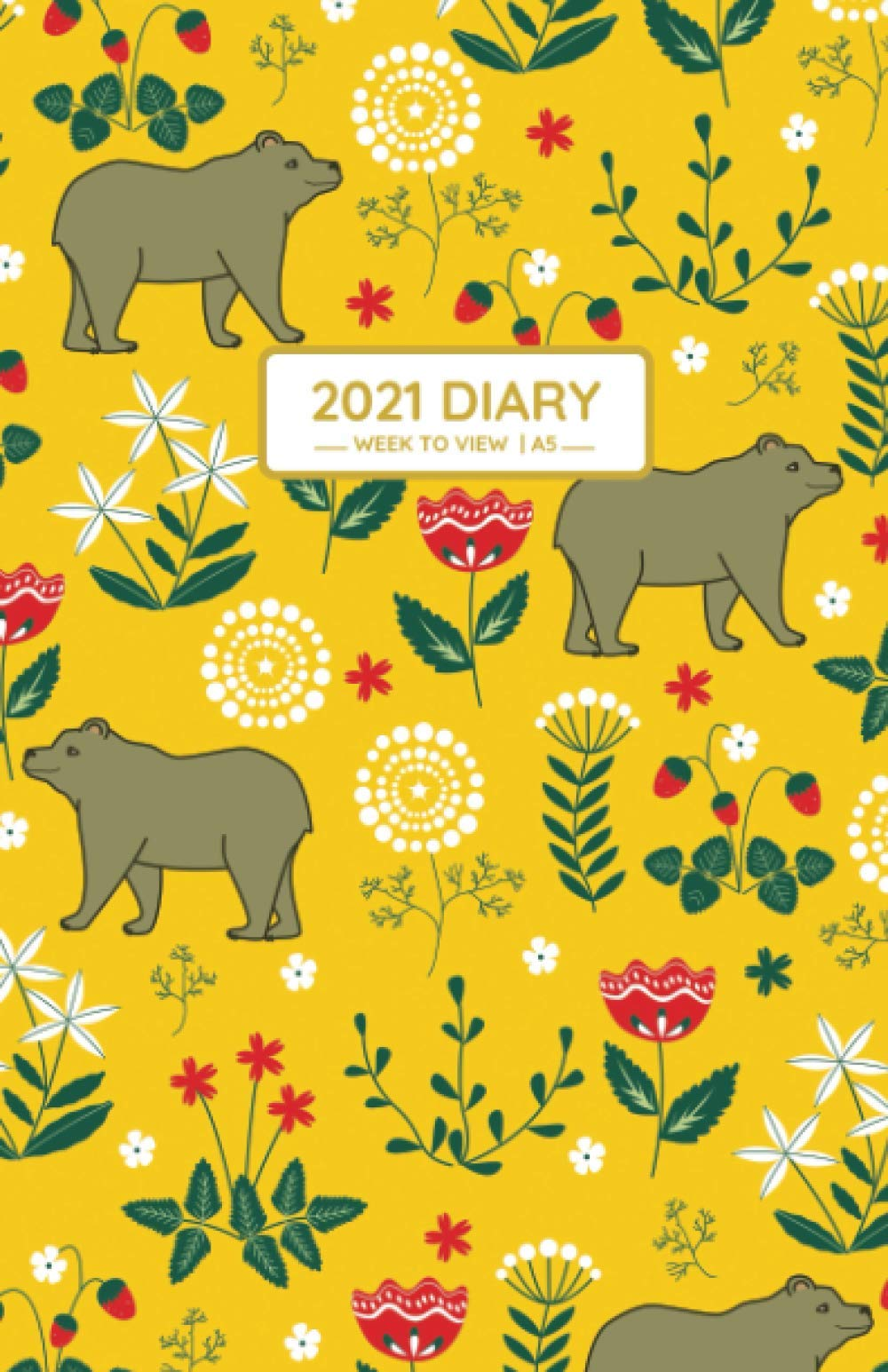 2021 Diary 2021 Diary A5 Week to View Diary from January 2021 to December 2021,